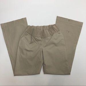 Gap Maternity Hip Slumg Fit Tan Pants 10 Long